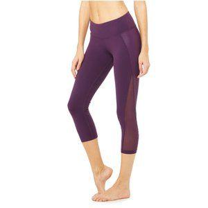 ALO Yoga Nova Side Mesh Panel Crop Leggings